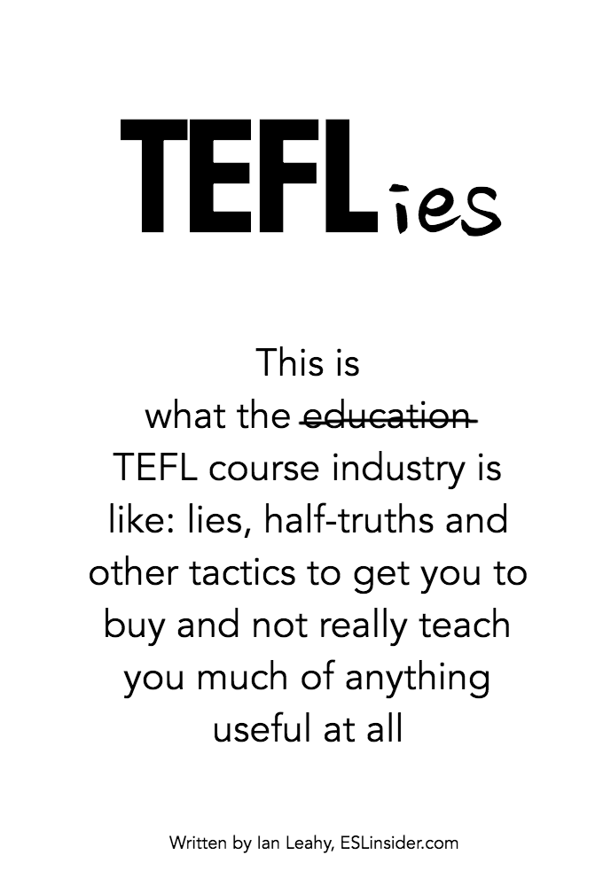 TEFLies ebook cover