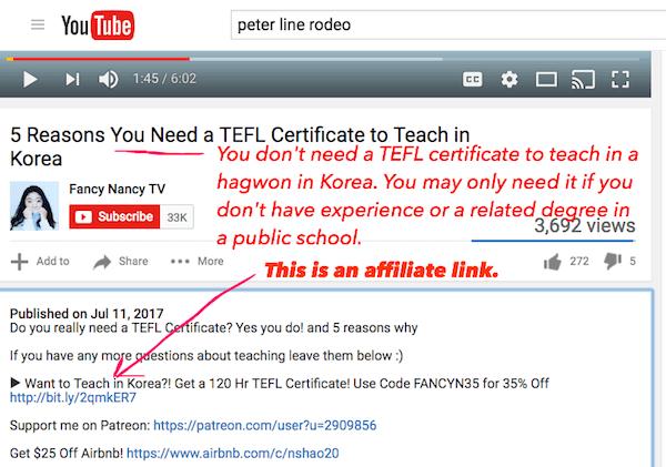 affiliate tefl youtube fancy nancy
