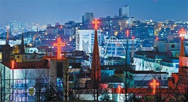 christian crosses korea