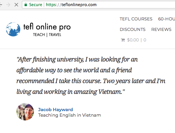 fake tefl course review