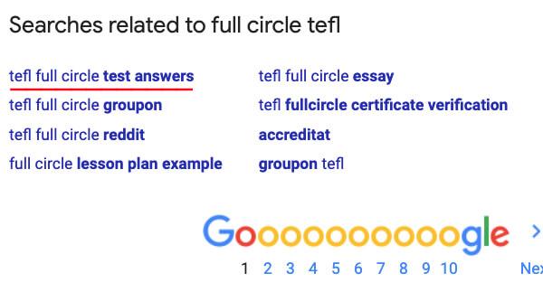 fullcircle tefl answers