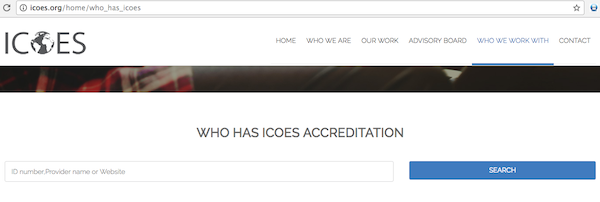 icoes accreditation