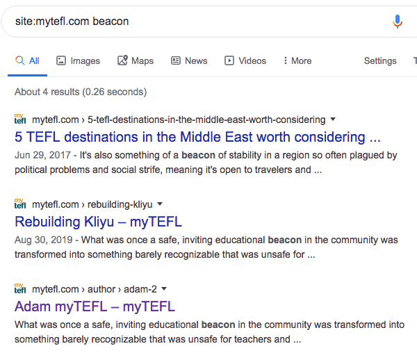mytefl beacon