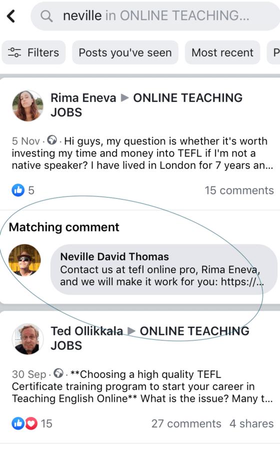 neville david thomas tefl online pro