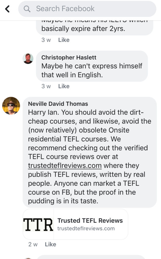 neville david thomas trusted tefl reviews