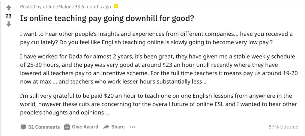 onlineteachingpaygoingdownhill
