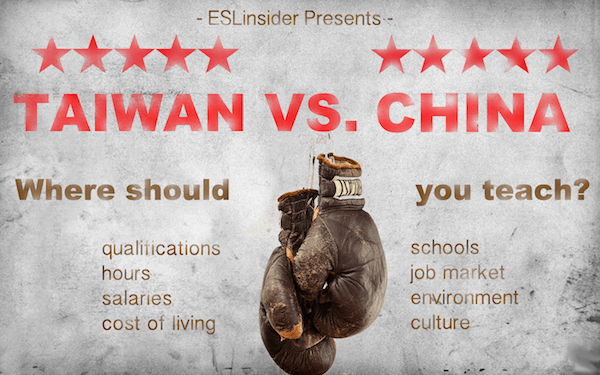 china vs. taiwan - where should i teach?