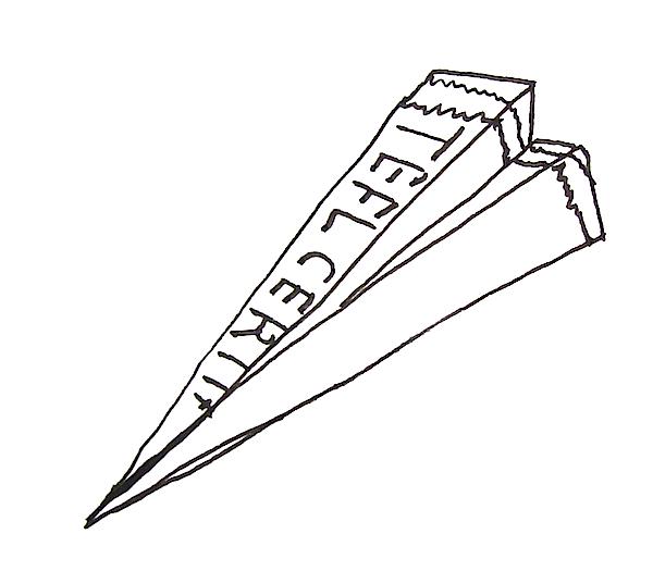 Make a TEFL certificate airplane