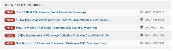 top 5 articles eslinsider