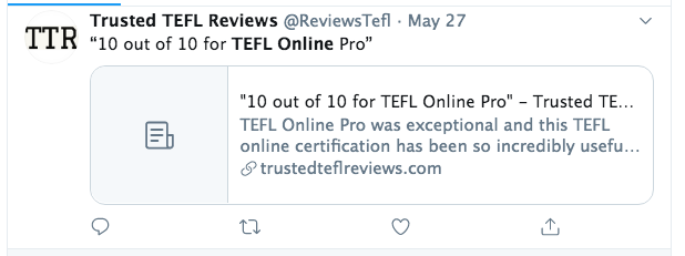 trusted tefl reviews tefl online pro