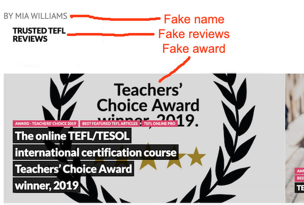 tefl online pro review scam
